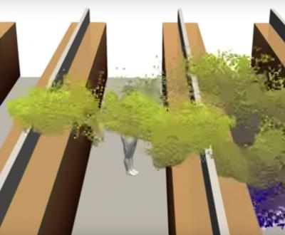 Video: Así se mueve el coronavirus en los pasillos de un supermercado