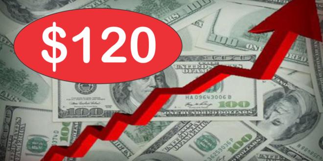 """El dólar """"blue"""" récord a 120 pesos"""