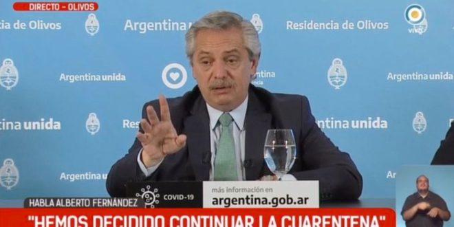 Alberto Fernández anunciará este viernes la extensión de la cuarentena hasta mayo