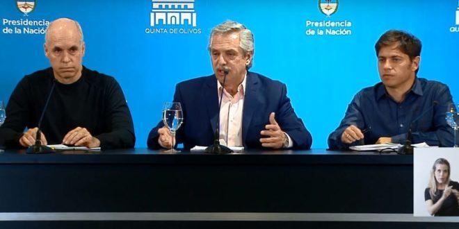 VIDEO EN VIVO : Conferencia de prensa Alberto Fernandez, Larreta y Kicillof