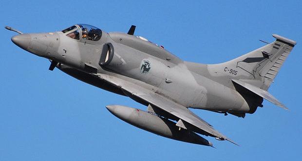 Accidente y perdida de un A-4AR Fightinghawk