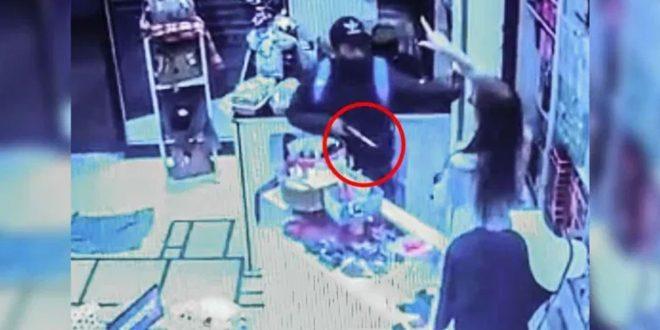 Video: Se resistió a un robo y echó al ladrón a empujones