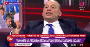 """Sergio Berni : """"Estoy harto de que se repartan planes"""""""