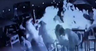 Video: El momento de la explosión en la cervecería que causo la muerte de una joven