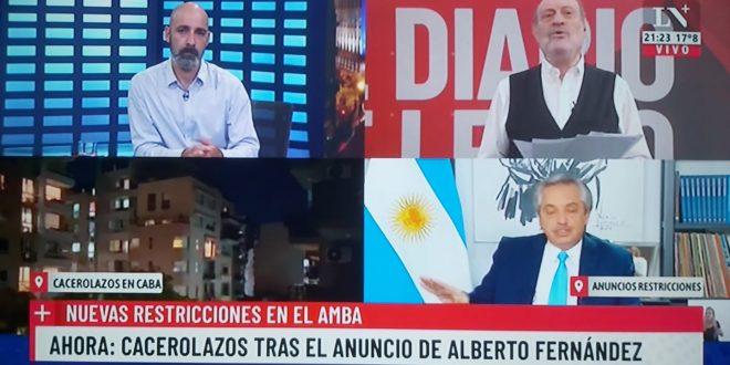 CACEROLAZOS DESPUÉS DEL DISCURSO DEL PRESIDENTE !!