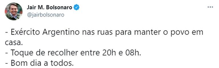 Bolsonaro se burló de Alberto